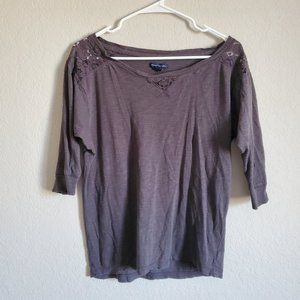 American Eagle Outfitters 3/4 Sleeve Top